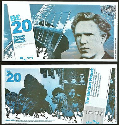 England/ Brixton- Local Currency £20 Banknote, Vincent van Gough. 1st Series.UNC