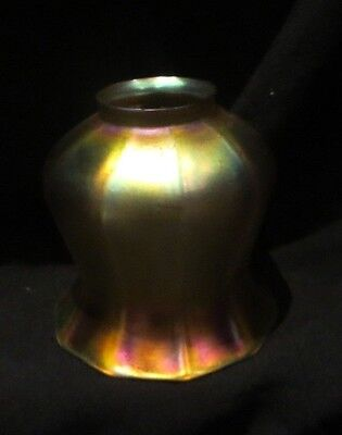 Lustre Art - Art Glass Shade Quezal, Steuben Art Glass Era  Lamp Shade