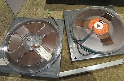 """7""""  Reel To Reel Tape With Rare Hard Case/ Library Case  Basf / Tdk / Memorex"""