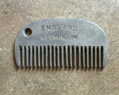 Vintage England Aluminum Horse Mane and Tail Comb