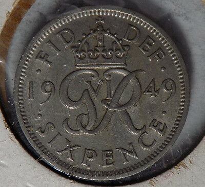 Great Britain 1949 6 Pence Coin