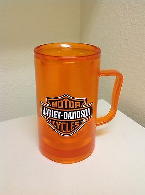 Harley Davidson ~ Orange ~ Freezer Mug