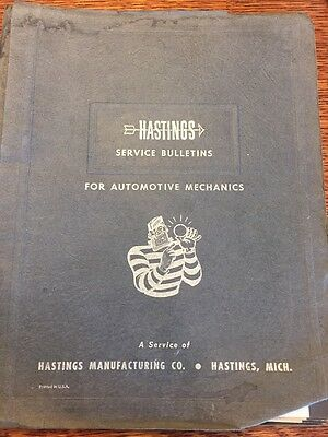 Hastings technical bulletins Service Ford International Plymouth 1960 Buick V8
