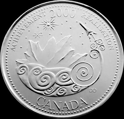 Canada 2000 Achievement 25-Cent Coin Quarter  PROOFLIKE From a Mint Set