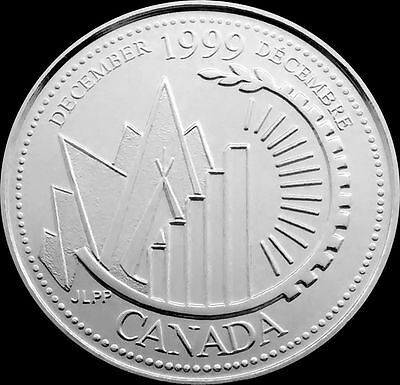 Canada 1999 December 25-Cent Quarter PROOFLIKE  From a Mint Set