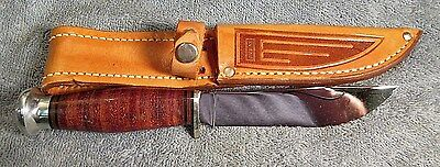 Vintage Case Leather Ring Handle Unsharpened Hunting Knife In Original Sheath #2