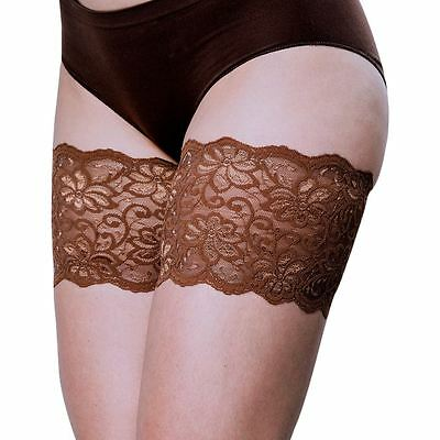 """Bandelettes DOLCE CHOCOLATE -Elastic Anti Chafing Thigh Bands 6"""" in length"""