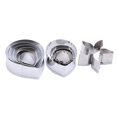 3Set Stainless Steel Floral Mould Kitchen Baking Tools Cookie Cutter Mold Durabl