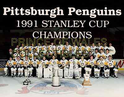 1991 Pittsburgh Penguins Team Photo 8X10