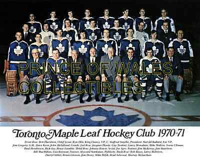 1971 Toronto Maple Leafs Team Photo 8X10