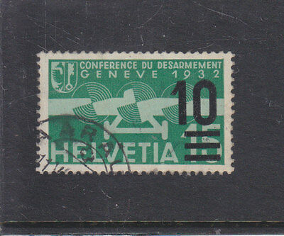 SWITZERLAND-1932/35-10c AIRMAIL SURCHARGE-SG 363-FINE USED-$20