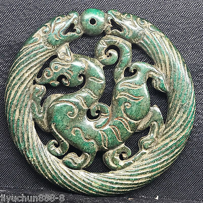 Old Chinese Neolithic xiuyu jade Hand carved Amulet Pendant   0001378