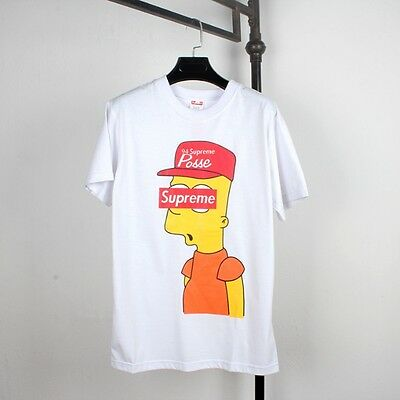 Bart Simpson Censored Eyes T-Shirt Sz M The Simpsons Supreme