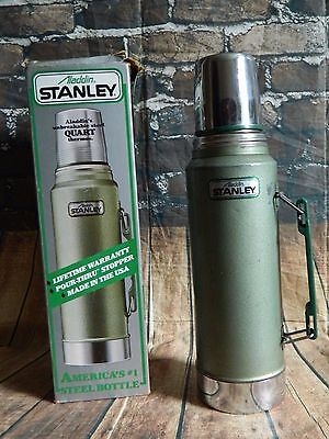 Stanley Aladdin Quart Steel Thermos No. A-944DH **Made In USA ** WITH BOX