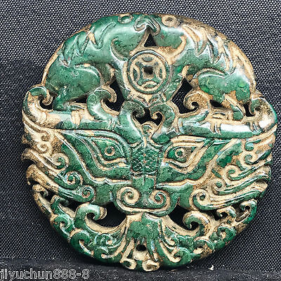 Old Chinese Neolithic xiuyu jade Hand carved Amulet Pendant   0001379