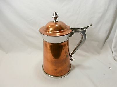 Vintage Copper & Aluminum Coffee Tea Water Pitcher Pineapple Final and Flip Lid