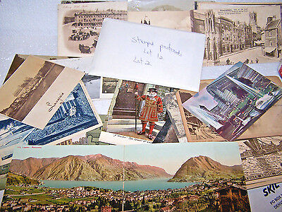 Postcard Lot Mixed 44 B&w Color People Place Unused Used Stamped Vintage Antique