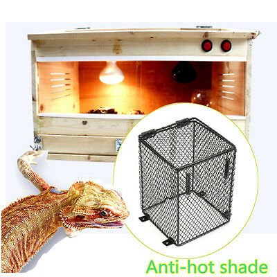 Reptile Basking Lamp Guard Bulb Cage Light Ceramic Protector Heat Safety 12x16cm