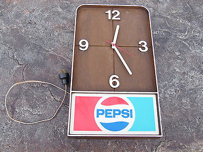 Vintage 1960's Pepsi Electric Wall Clock