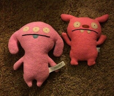 Lot Of 2 Uglydoll Plush Named Peaco And Puglee