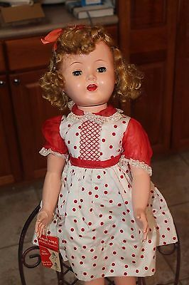 VINTAGE BELLE DOLL ,WALKING DOLL APPROX. 28 IN TALL RARE1952-1958 ,effanbee