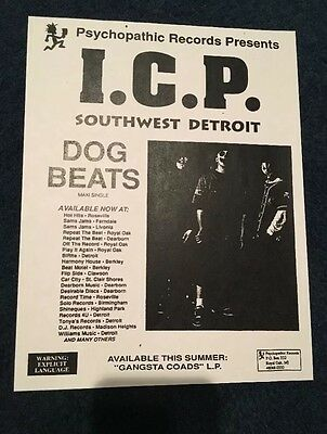 RARE ICP Dog Beats Flyer Insane Clown Posse Twiztid Esham Psychopathic Records
