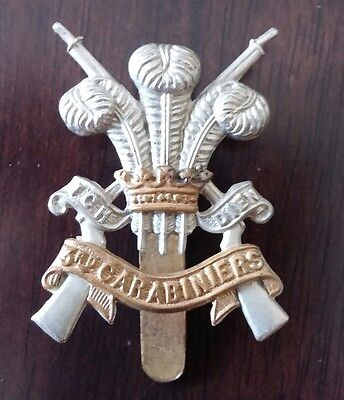 WW2 British 3rd Carabiniers Cap Badge