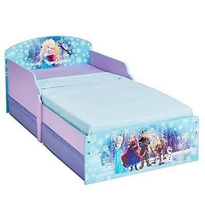 Frozen Elsa and Anna Single Girls Bed With Drawers Toddler Kids Bedroom