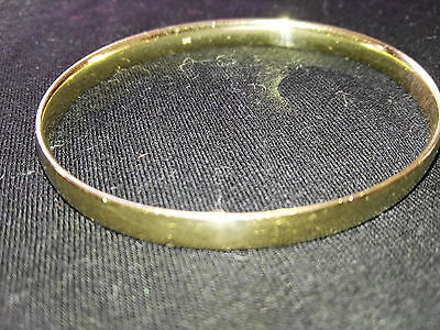 Solid Yellow Gold 375 Bangle 20.9g