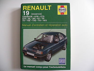 revue technique automobile RTA manuel HAYNES RENAULT 19 essence