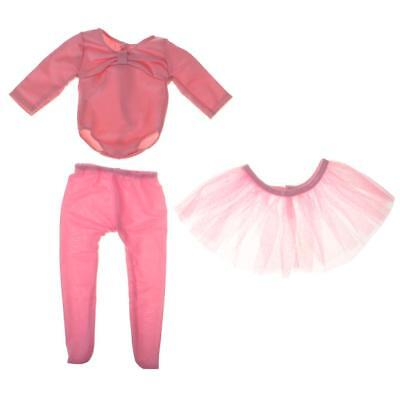 Pink Ballet Dance Suit Clothes for 18'' American Doll Our Generation Dolls