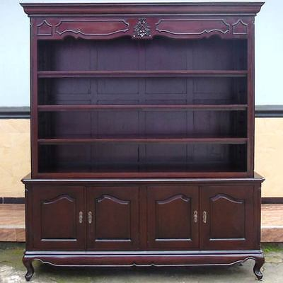 gro er massiv holz schrank antik wei neu b cherschrank m bel shabby chic regal eur. Black Bedroom Furniture Sets. Home Design Ideas