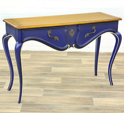 Barock Schubladentisch Massiv ● Drawer Table Console ● Barock-Design Silber-Blau