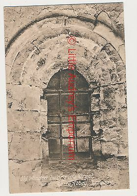 Old Postcard Window Looking into Crypt Torre Abbey Torquay Unposted c1920 AL491