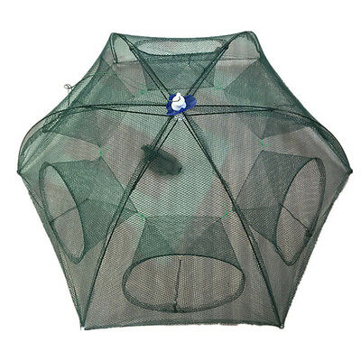 Foldable Cast Dip Cage Trap Net Fishing Crab Prawn Shrimp Crayfish Lobster