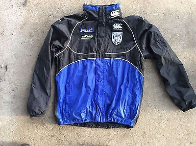 HOODED ALL-WEATHER JACKET NRL CANTERBURY BANKSTOWN BULLDOGS size L NEAR NEW
