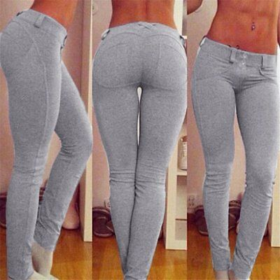 UK New Skinny Womens Ladies Jeans Stretchy Jeggings Fit Coloured Trousers