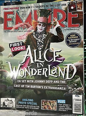 Empire Film Magazine March 2010 Johnny Depp Alice In Wonderland Iron Man