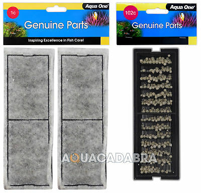 Aqua One Aquanano 1C Carbon / 102C Ceramic Filter Media - fits Betta Trio/Duo