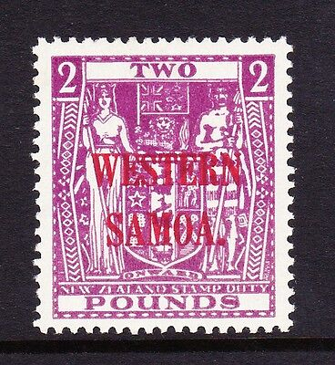 Samoa 1945-53 £2 Bright Purple Sg 212 Mnh.