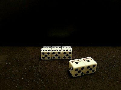 Bicycle dice loaded/weighted craps cee-lo collectible