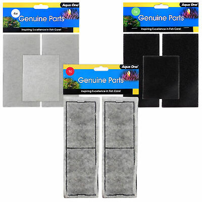 Aqua One AquaStyle 620, 850, 980 Filter Carbon/Sponge/Wool Media Cartridge