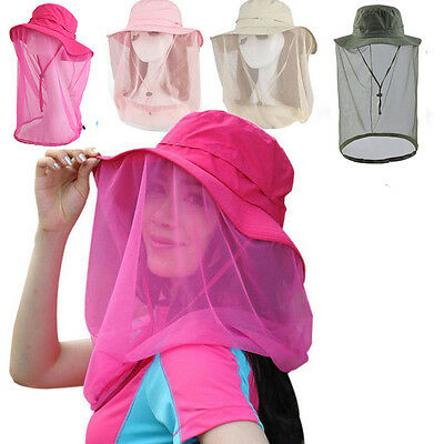 Sunscreen Outdoor Anti-mosquito Mask Hat Hats Cap Head Net Mesh Face Protection