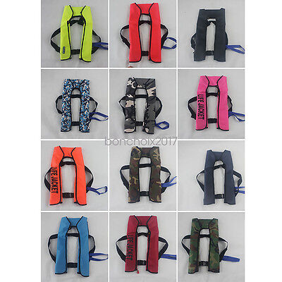 Adult Manual Inflatable Life Jacket Outdoor Easy Contral Sailing Swimming Vest