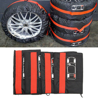 """4pcs/set Soft Spare Tire Cover Wheel Covers for 13""""-16"""" Cars Tyre New"""