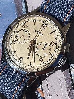 Vintage Lemania Chronograph Mens Watch