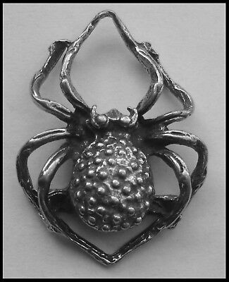 PEWTER CHARM #1016 SPIDER 20mm x 28mm (joiner)