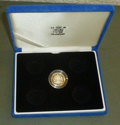 Empty Royal Mint Blue Plush Coin Box for Five Silver Proof £1 Coins In Capsules