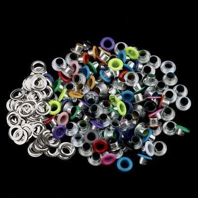 100x Metal Eyelets Scrapbooking DIY Embellishment Apparel Garment Clothes Buckle