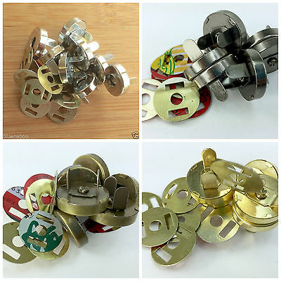 Magnetic bag clasps/ fasteners Silver Bronze Gold Gunmetal Sold Per 5